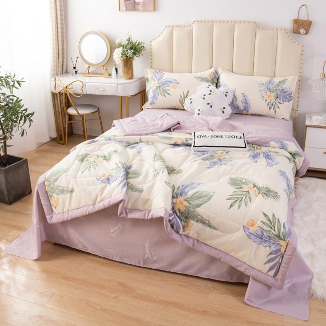 Комплект постельного белья Сатин с Одеялом OB016